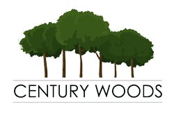 logo with green trees and words